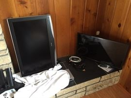 Two flat screen TVs.  Not the largest, but still worth it.
