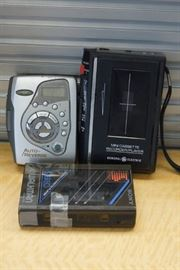 3 Portable Cassette Players Including Sony Walkma ...