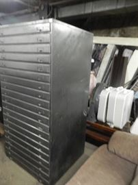 Huge Metal Cabinet with 20 Drawers.