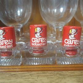 Vintage miniture Carey Salt