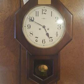"""Vintage Howard Miller """"Regulator"""" Wall Clock"""