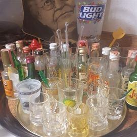 Vintage Shot Glasses & Liquor Miniatures