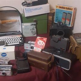 Vintage Cameras, Typewriters and more
