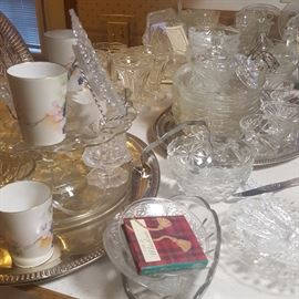 TONS of Glass Serving Ware