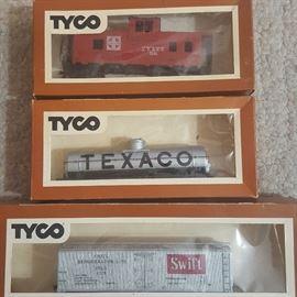 Detail, Tyco Train Cars