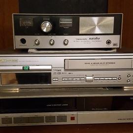Vintage Electronics, Including Realistic CB Radio Base Station (top)