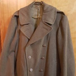 WWII Era Enlisted Wool Trench Coat - PERFECT CONDITION!