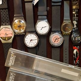 Over a dozen Highly watches from Swiss watchmaker, Swatch