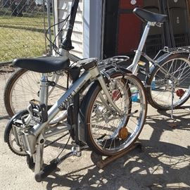 Two Dahon Foldable Bikes, One is a RV Mate III and the other is a RV Mate I. Both are 3-Speeds and both are in excellent condition!