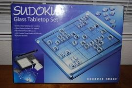 Tabletop Sudoku Set from Sharper Image