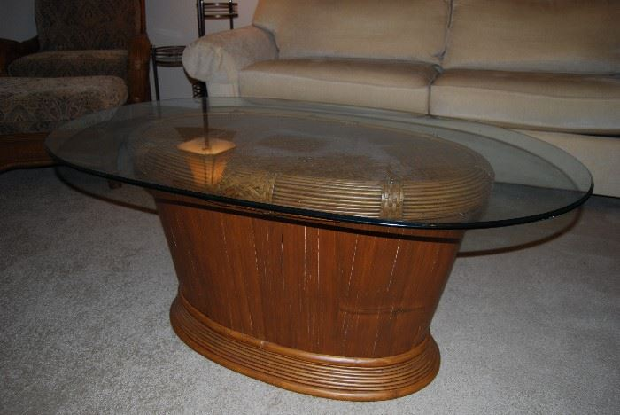 Unusual Glass Top Coffee Table
