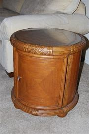 Unusual End Table (Matching Coffee Table, Two Chairs and other End Table