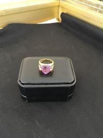 14 K Amethyst and Ruby ring