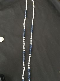 Lapis, Pearl and 14K Necklace