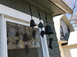 Wind chimes from art fair