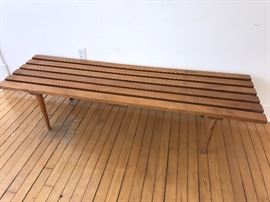 Mid Century Modern  - slat bench/coffee table