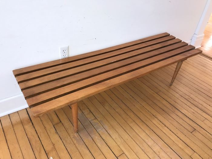 Mid Century Modern  - slat bench/coffee table