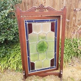 antique stained glass screen