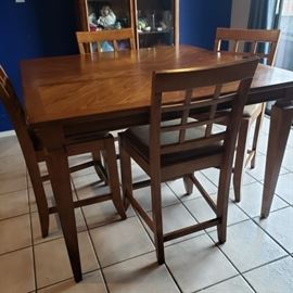 nice tall table with chairs