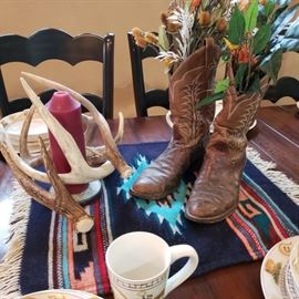 Cowboy boots on the table? Sure..why not?
