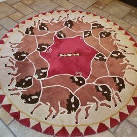Buffalo wool rug