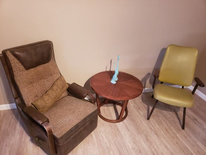 1955 Lay Z Boy recliner chair in working condition and Lane Round Table