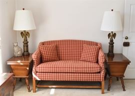 Shaker Style Loveseat / Settee by Laine of Hickory