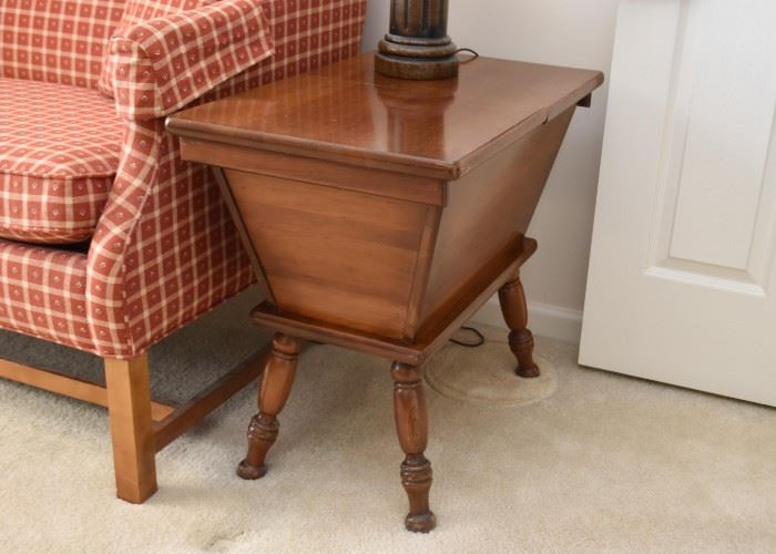 Pretty Pair of Side Tables / Sewing Storage Tables (top opens)
