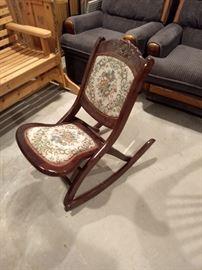 Antique Folding Rocking Chair