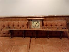 Antique Shelf with built in clock
