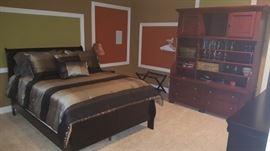Bed and Mattress Set, Entertainment Center