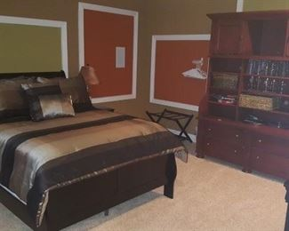 Bed and Mattress Set, Entertainment Center