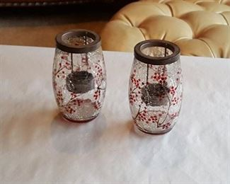 Cracked Glass Candle Containers