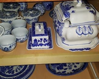 Collection of Blue White China