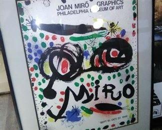 Original Joan Miro gallery poster