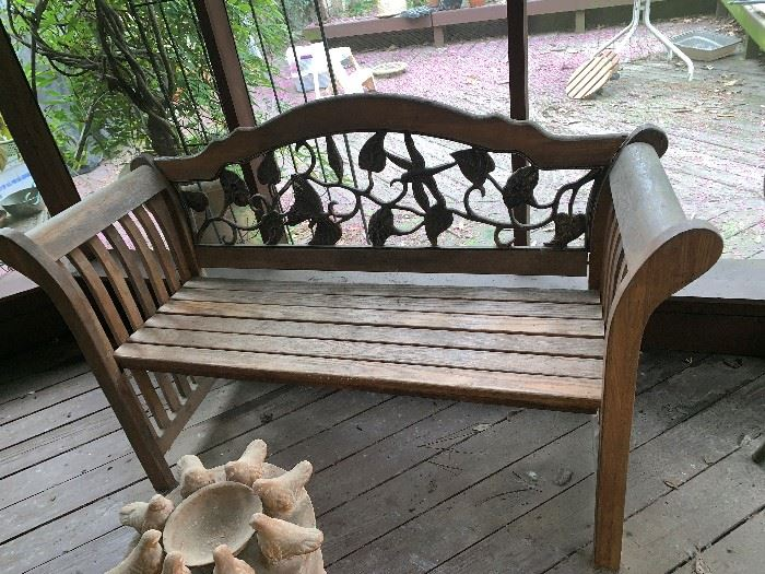 Very Nice  Wooden & Iron Royal Bench