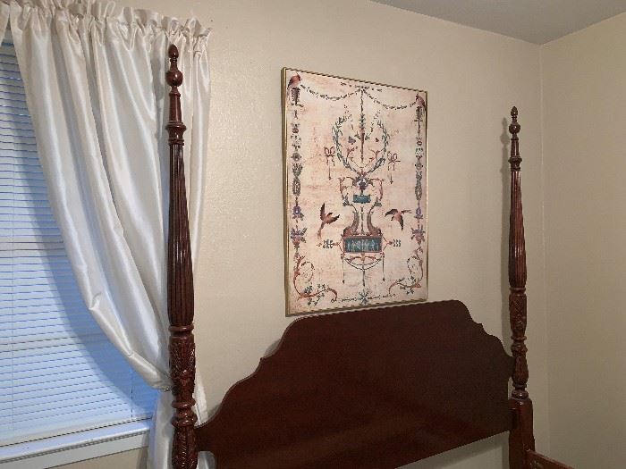Nice Four Post Queen Bed