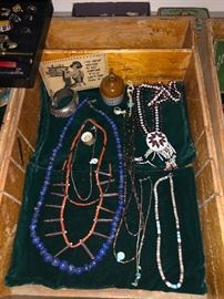 A few fun vintage necklaces including this awesome lapis lazuli beaded beauties