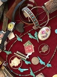 We have a couple of cute Native American bracelets and a few fetishes to keep you lucky