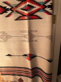 This woven planket is a lovely mid century piece of Native American art