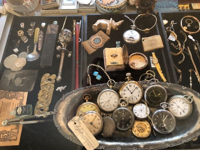 We have a few old pocket watches.....