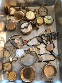 Cool old antique watch parts ready for your repurposing