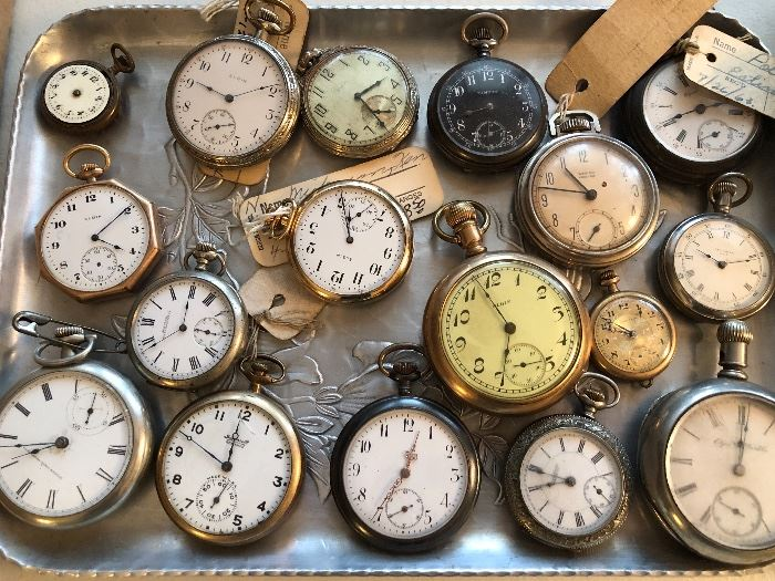 Did we mention we have old pocket watches.....