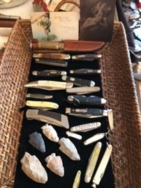 "And a ""few"" pocket knives"