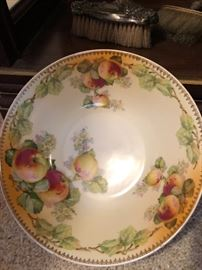 Pretty large bowl-o-apples, signed