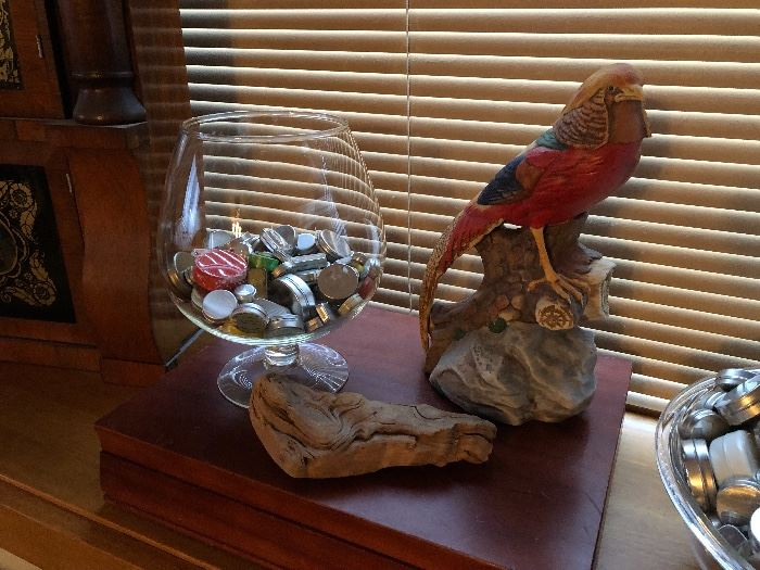 A sweet bird decanter