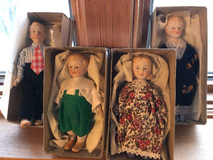 Fun vintage ceramic dolls from Japan