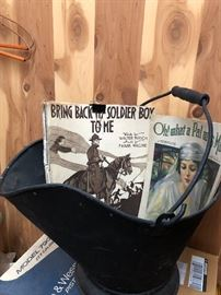 Coal bucket full of memories
