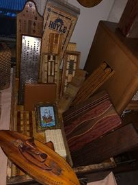 Yes, many types of cribbage boards.
