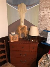 Nice simple dresser - and not so simple original art